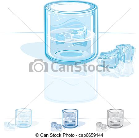 EPS Vector of Cold Fresh Water csp6659144.