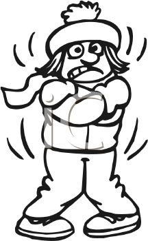 Cold Weather Girl Clipart.