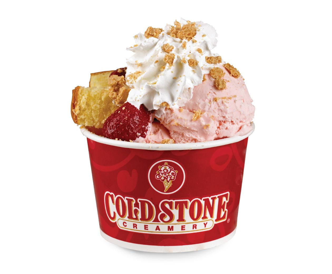 Cold Stone Who You Callin' Shortcake Ice Cream Sundaes.