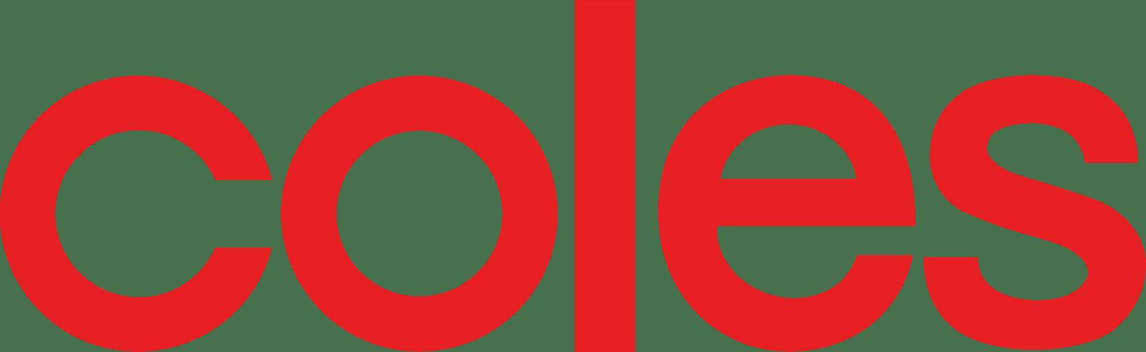 Coles Supermarkets Logo transparent PNG.