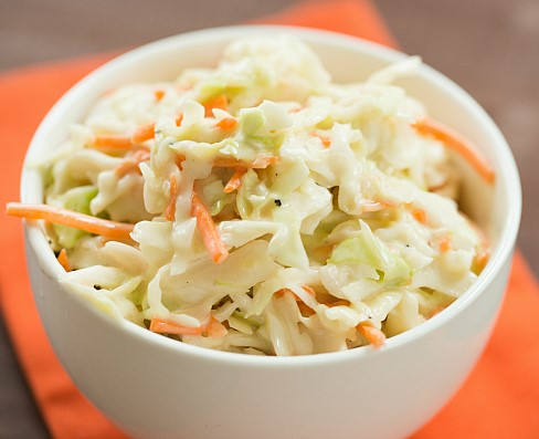 Coleslaw with Dressing.