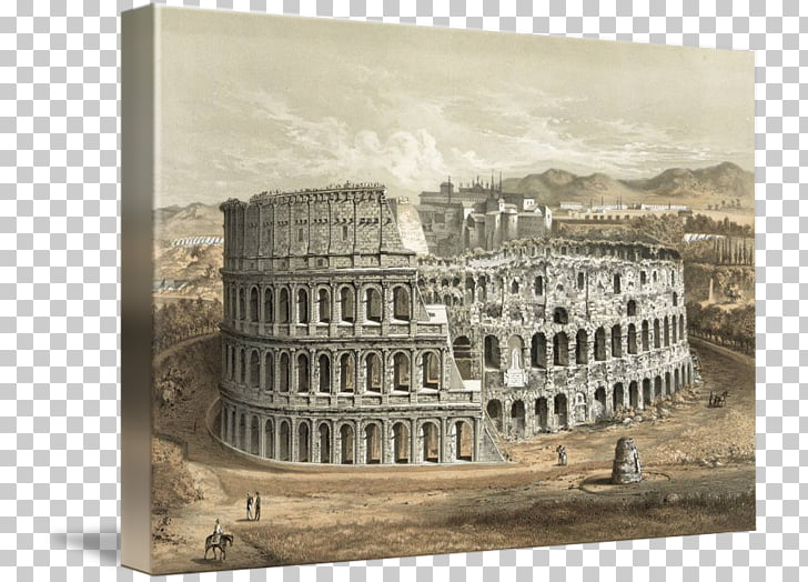 Coliseo arte del cartel antigua Roma, Coliseo PNG Clipart.