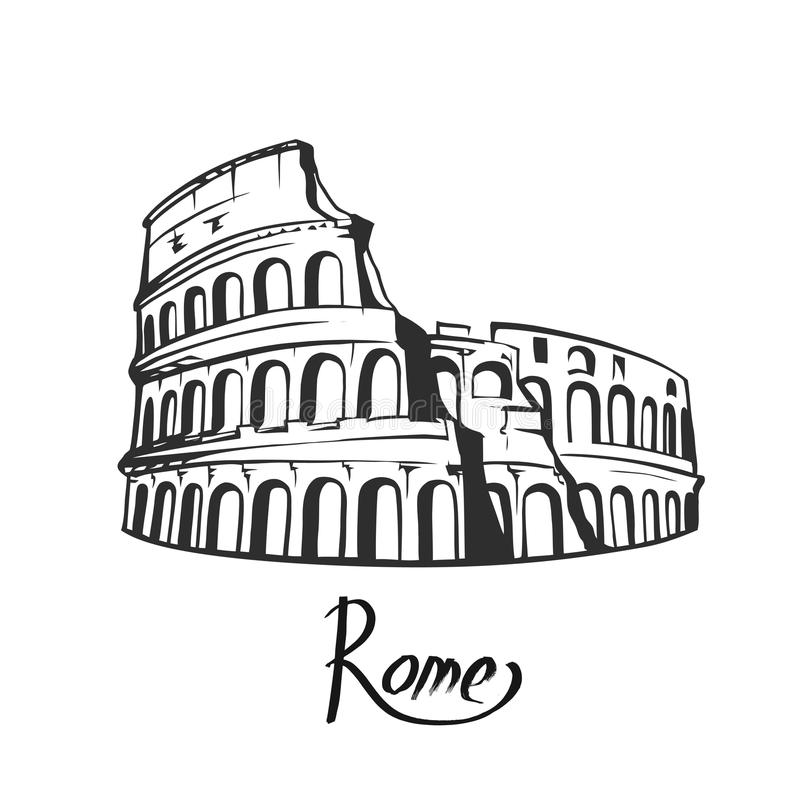 Rome Colosseum Stock Illustrations.