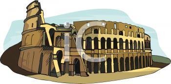 Roman colosseum clipart - Clipground