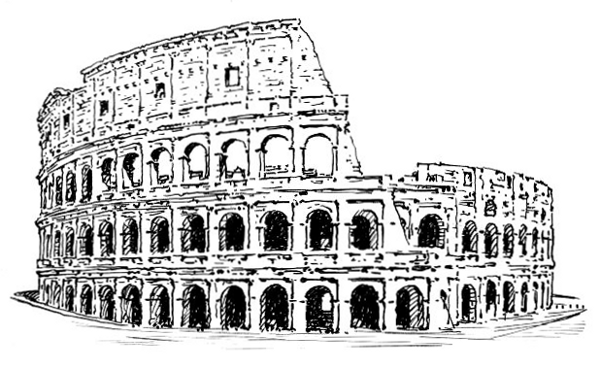 Free Roman Colosseum Clipart, 1 page of free to use images.