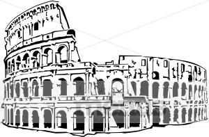 Roman Coliseum Clipart.