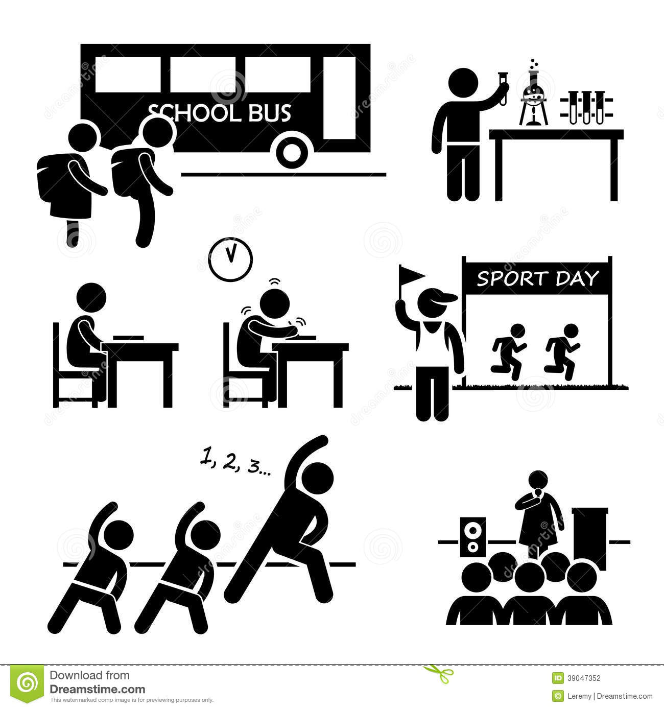 College Activities Clipart.