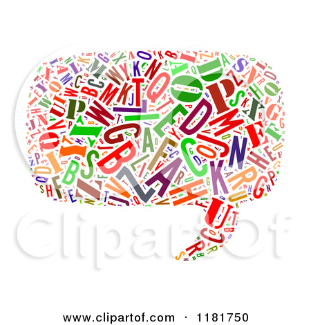 Clipart of a Colorful Cyrillic Alphabet Circle Collage.