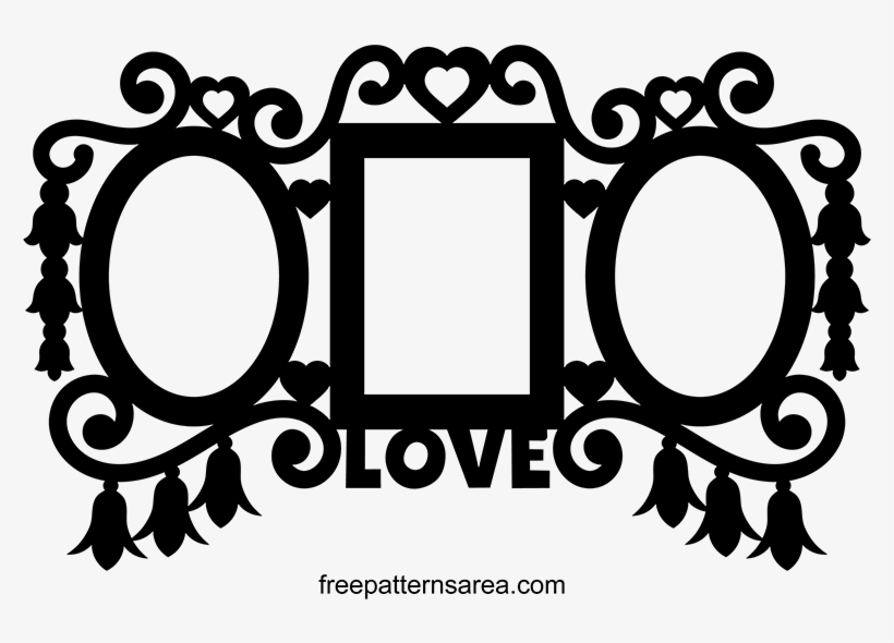 Triple Wall Picture Frame Clipart Vector.