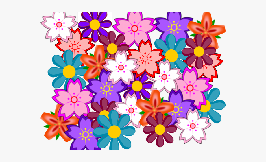 Floral Clipart Collage.