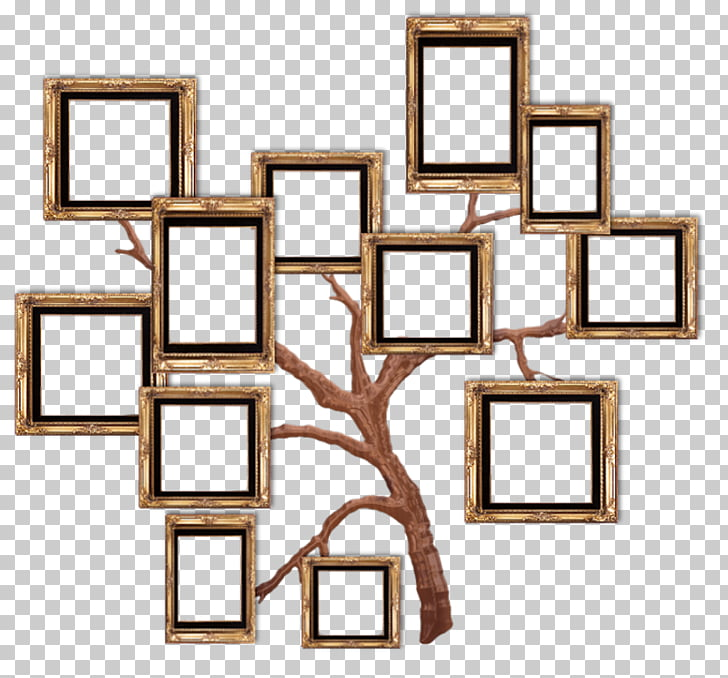 Frame Film frame, Home, brown tree photo collage PNG clipart.