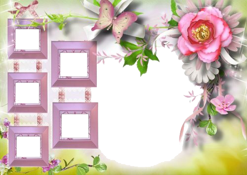 Download Birthday Collage Frame PNG Image.