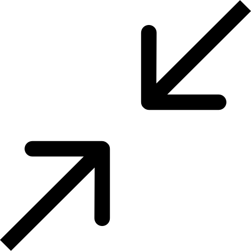 Collapse two arrows diagonal symbol.