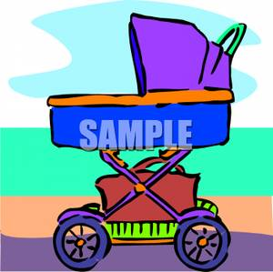 Collapsible_Baby_Carriage_Royalty_Free_Clipart_Picture_090629.