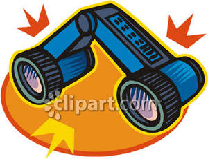 Collapsible_Binoculars_Royalty_Free_Clipart_Picture_090327.