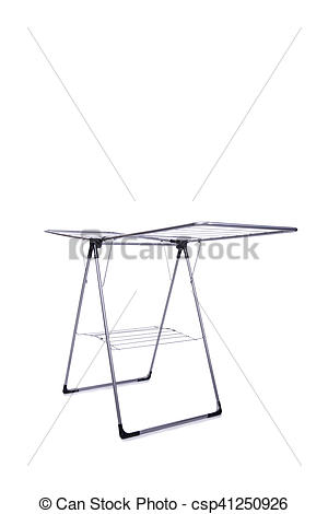 Clip Art of Collapsible clotheshorse isolated on the white.