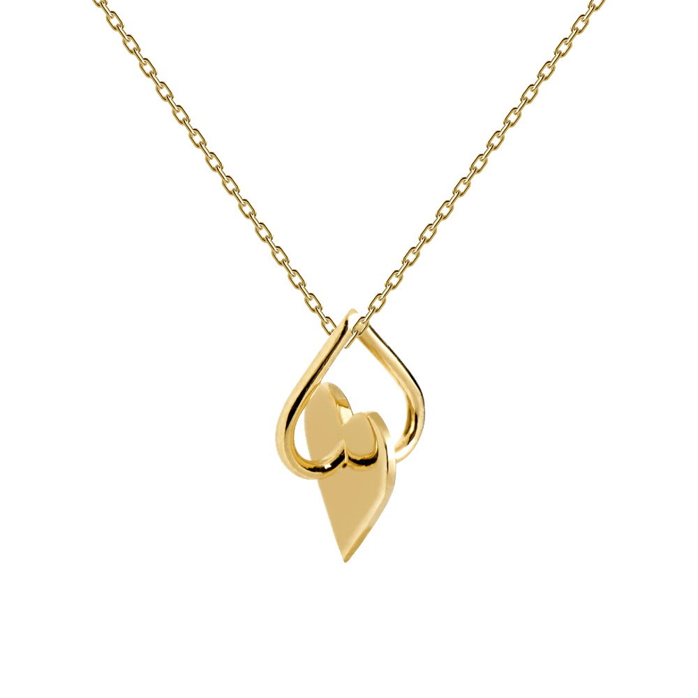 Promise gold necklace.