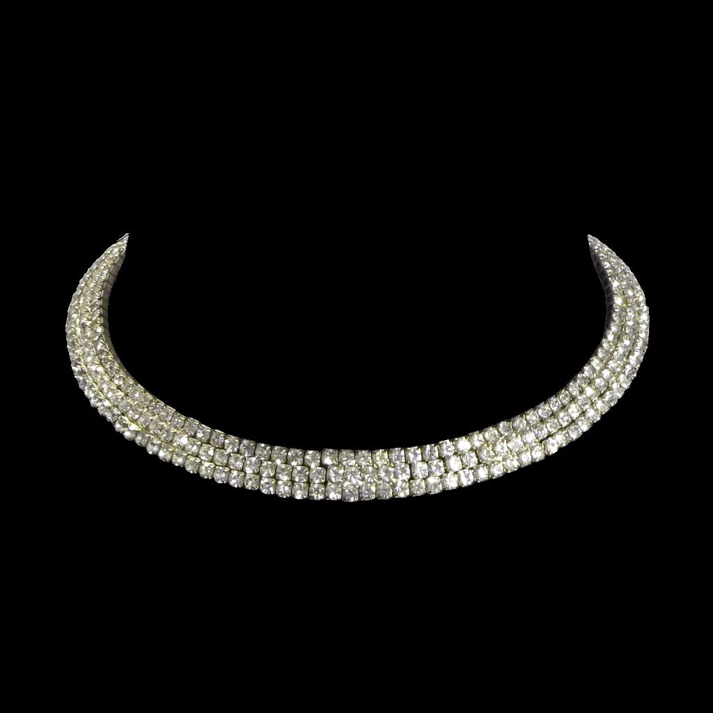 Necklace Silver transparent PNG.