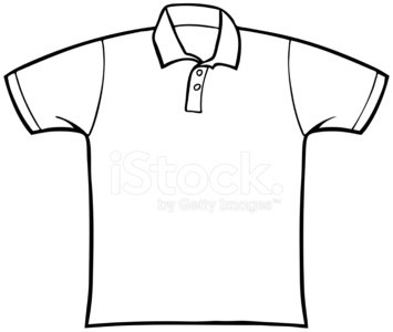 Collared Shirt Clipart Image.