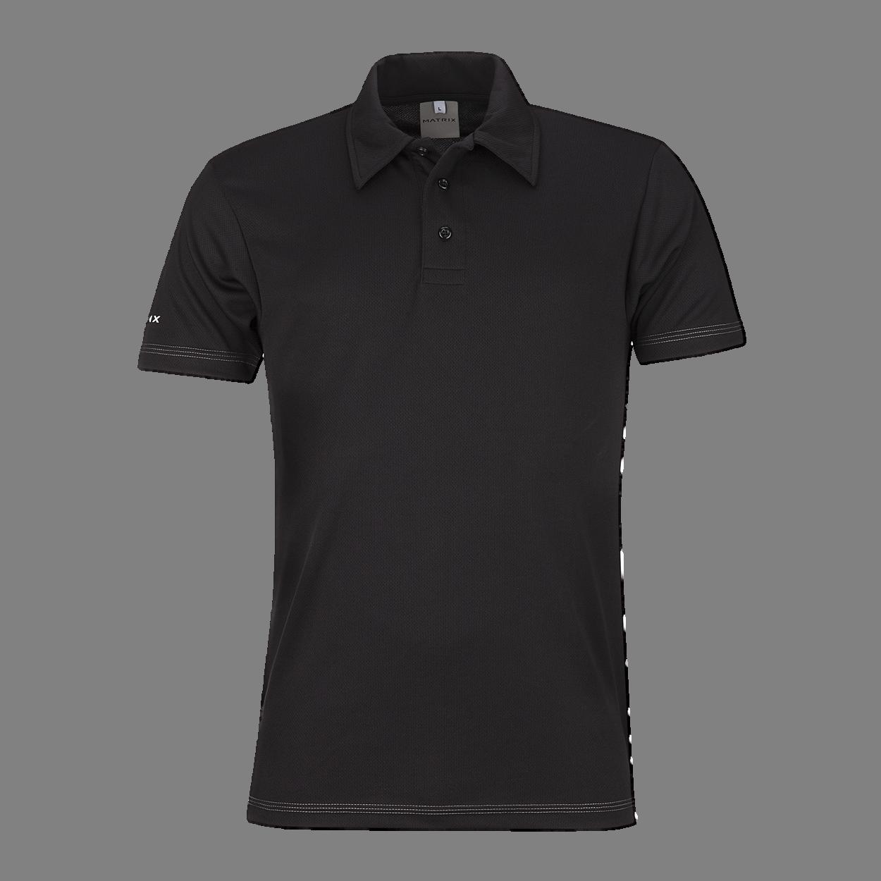 Black Kolar Polo Shirt PNG Image.