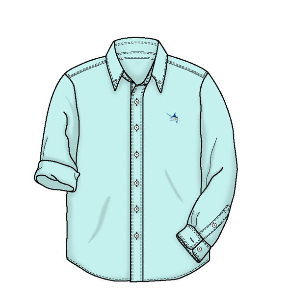 Collared dress shirt clipart.