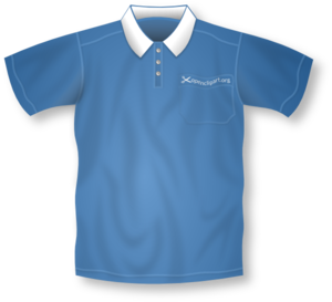 Blue Collared Short Sleeve Shirt Clip Art at Clker.com.