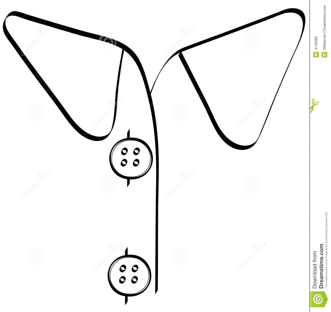 Shirt collar clip art.