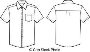 Short sleeve dress clipart.