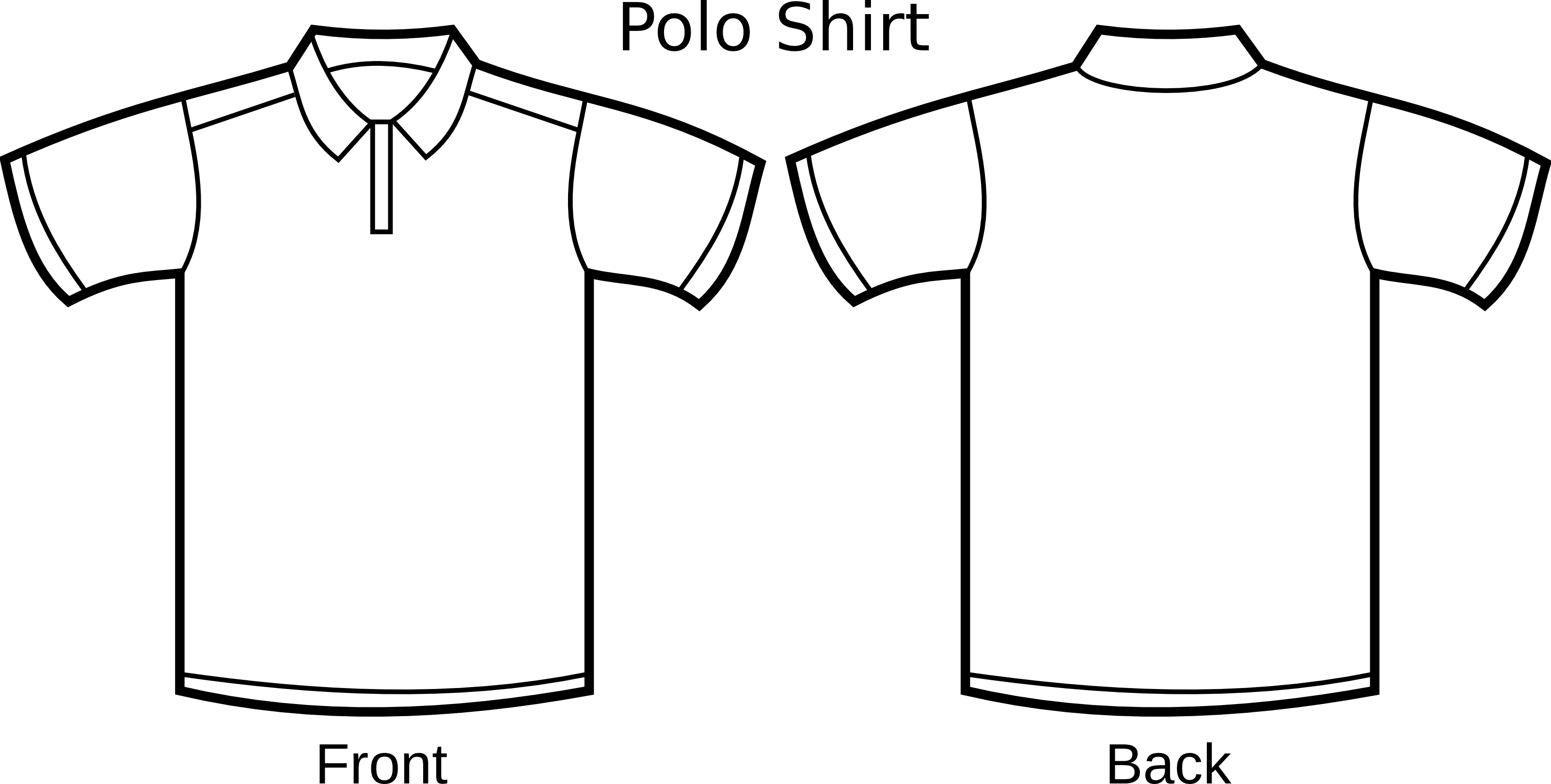 Polo Shirt Template Clipart Illustration.