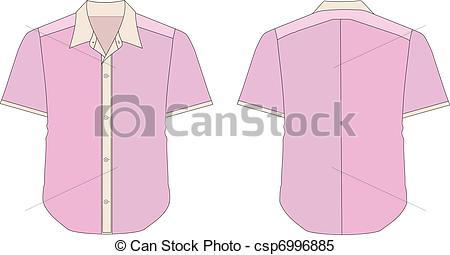 Collared Dress Shirt Clipart.