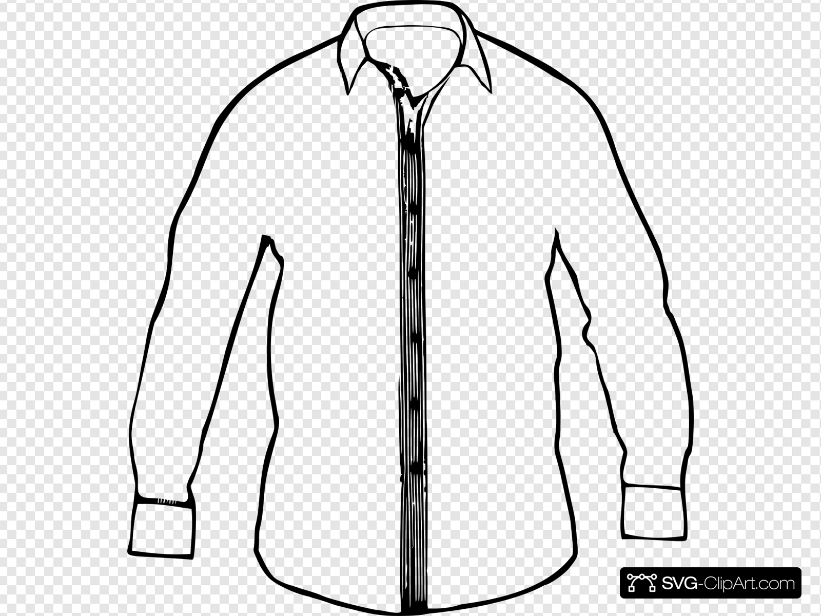 White Collared Shirt Clip art, Icon and SVG.
