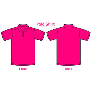 Magenta Collared Shirt clipart, cliparts of Magenta Collared.