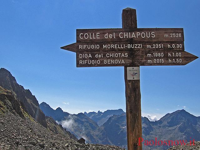 Cima del Chiapous m. 2805 (Alpi Marittime).