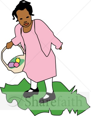 Girl Collecting Eggs.