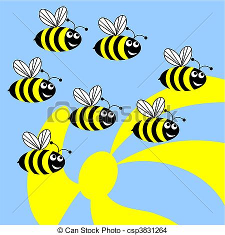 EPS Vector of Bees..