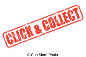 Clip Art Vector of COLLECTED RED STAMP TEXT ON WHITE csp34528069.