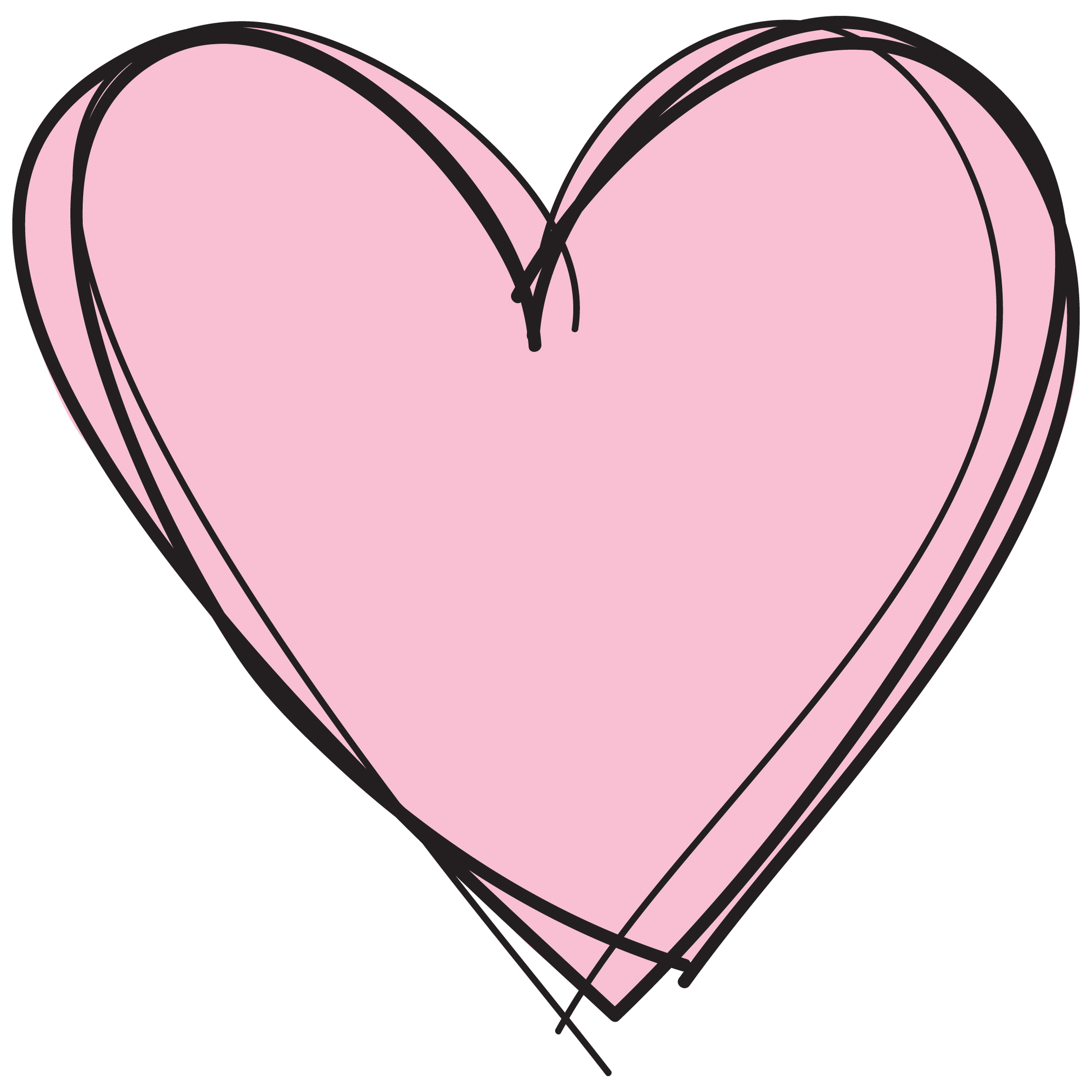 Pink Heart Urban Life Collected Clipart.