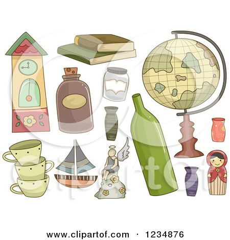 Clipart of Collectible Items.