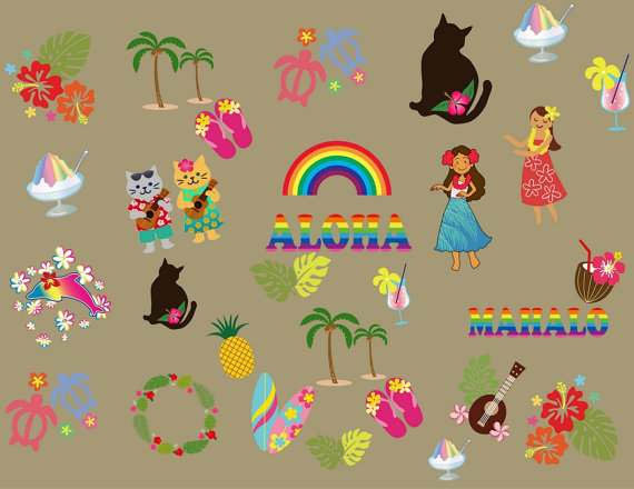 Art and Collectibles: Hawaii Island Clipart Island by.