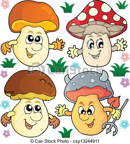 Vector Clip Art of Mushroom theme collection 2.
