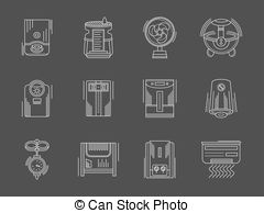 Vectors of Water supply system elements vector collection.