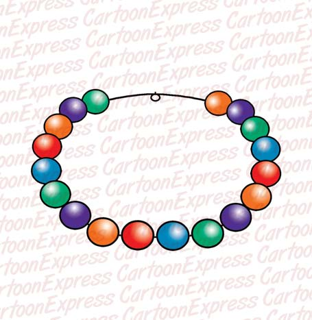 Bead jewelry clipart.