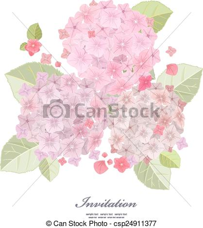 Vectors Illustration of Collection a beautiful of flowers, pink.