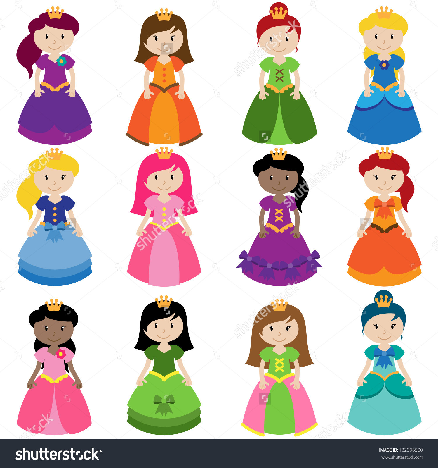 Cute Princess Stock Vectors & Vector Clip Art.
