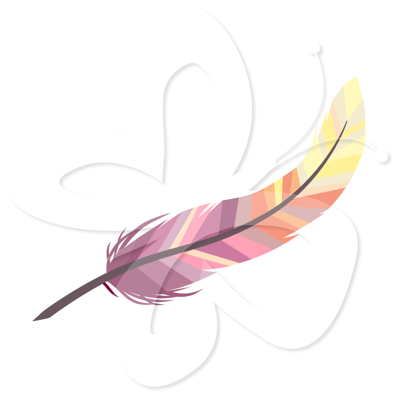 Beautiful Feathers Clip Art Set.
