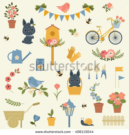 Nice Gardening Images Set Stock Photos, Royalty.