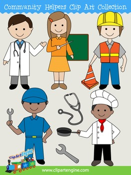 Community Helpers Clip Art Collection.