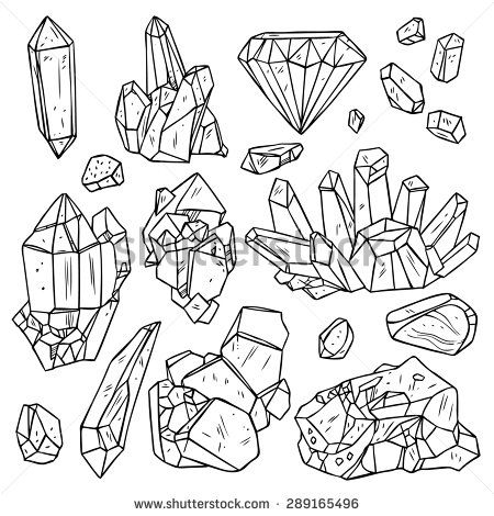 Mineral Crystal Stock Vectors & Vector Clip Art.