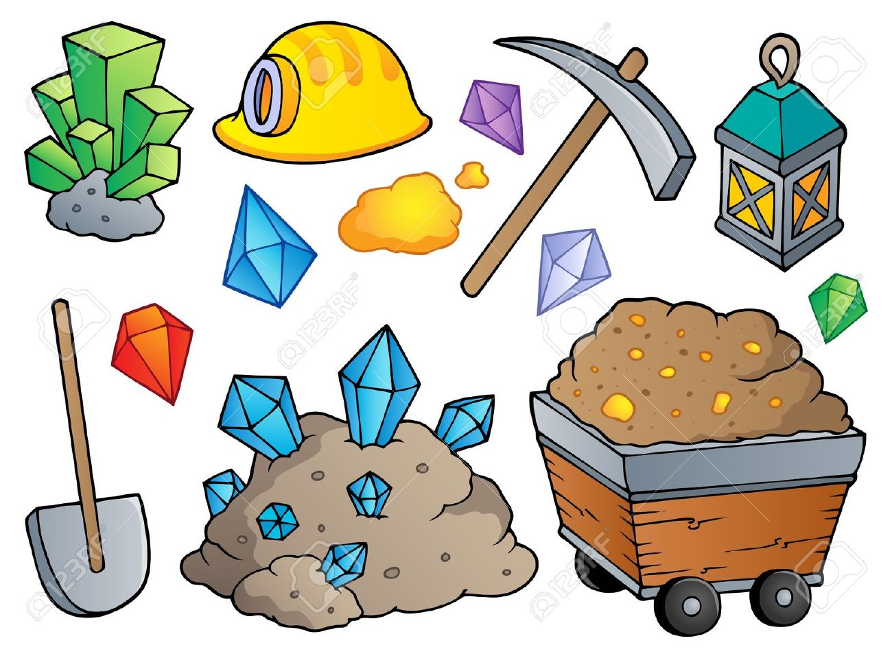 Mining Theme Collection Royalty Free Cliparts, Vectors, And Stock.
