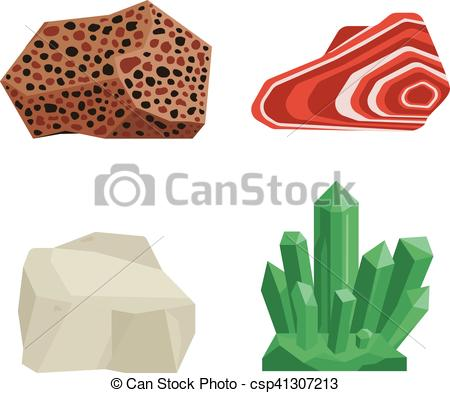 Vector Clip Art of Gemstones vector stones.